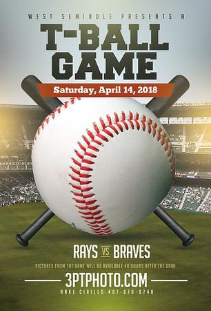 WS Rays vs Braves - 8:30 April 14, 2018