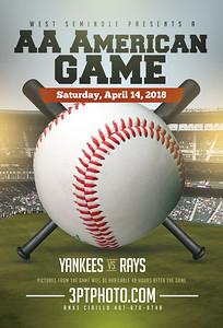 WS Yankees vs Rays - 3:30 April 14, 2018