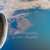 Flying over Greenland on our way to Vancouver