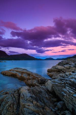 Sunset on Waiatt Bay