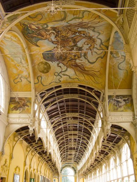 The pavillion ceiling | Mariánské Lázně, Karlovarský kraj The Czech Republic
