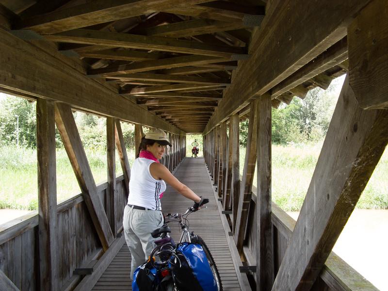 A wooden bridge in the Rhein delta area | Rhein delta,  , Schweiz