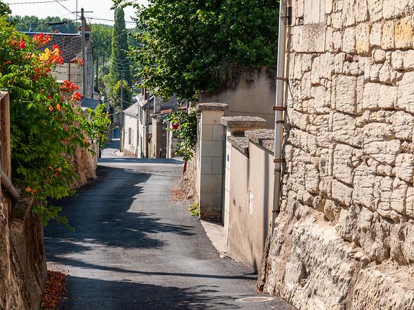 Teeny street leading into Munet | Distré, Pays de la Loire, France