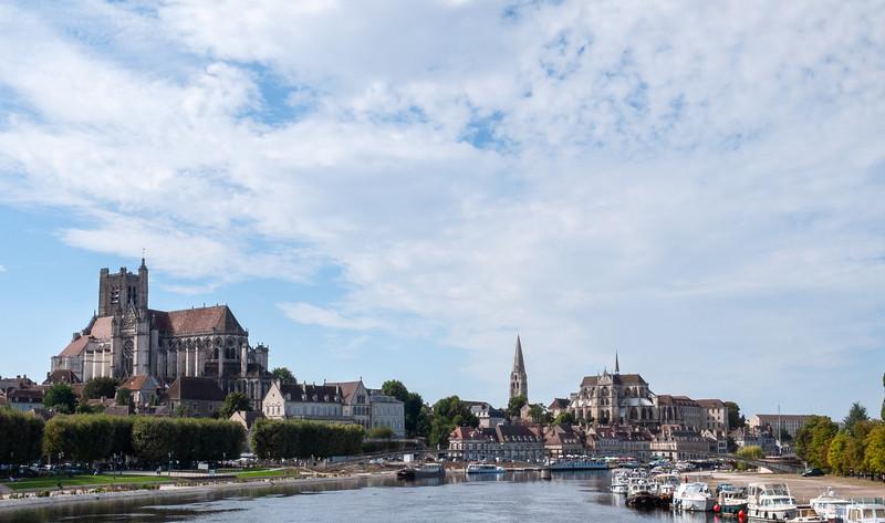 Auxerre through the car window   Auxerre, Bourgogne Franche-Comté France