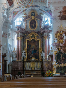 We attended a concert in the courtyard of this abbey church | Speinshart, Bayern Deutschland