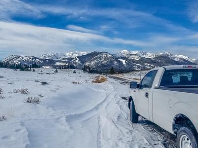 Access road to Camp Perkins (Alturas Lake Road) off highway 75, between Ketchum and Stanley, Idaho.