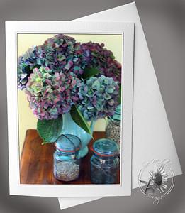 Hydrangea and mason jars