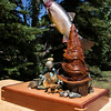 Award winning wood carving of a Yellowstone Cutthroat trout. The carving is by Karl K Northrup Sr in Yakima Valley, WA.