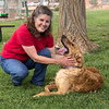 Enzo with Donna in dog park in St. George, Utah. Aug 28, 2013. Temp as 94 degrees there.
