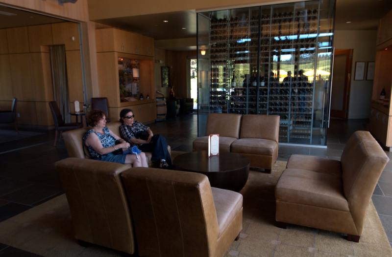Ellen & Deb relaxing after lunch