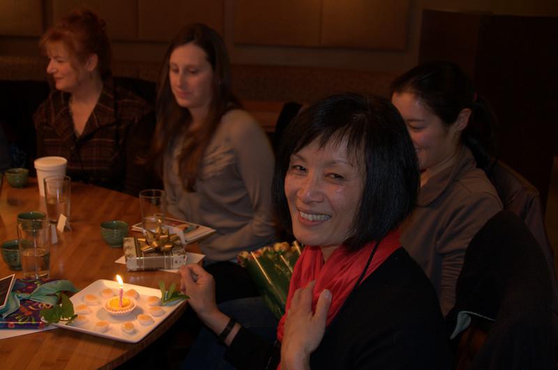 Kara, Jennifer, Lisa (behind Ellen) & the birthday girl