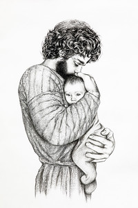 Saint Joseph and the Child Jesus - Sr  Mary Alexandra