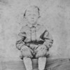 """Edgar Freeman, first cousin of my great-grandmother, Mary Abbie Corinne Prothro, who lived from 1853 to 1920. This photo was probably taken about 1870, when Edgar was 5 years old. In El Dorado, Arkansas.  This could also be """"Joe"""" Freeman, who was 3 years younger than Edgar."""