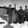 Dug in on mountain above Dutch Harbor, Aleutians, Alaska during World War II.