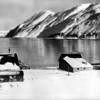 Part of a panorama of the town of Dutch Harbor in Aleutians, Alaska during World War II.