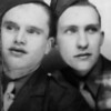 My dad on right (Emon C. Perdue) in one of those automatic photo booth shots, most probably in El Paso, Texas, 1941.