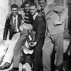 My dad on left on furlough or weekend pass from Fort Bliss visiting Juarez, mexico (most likely). 1941