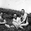 My Dad on right in Alaska with friends swimming in the nude at Dutch Harbor, presumbably in the summer.