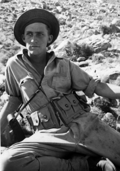 My dad, Emon Columbus Perdue during Army training in New Mexico at start of World War II.