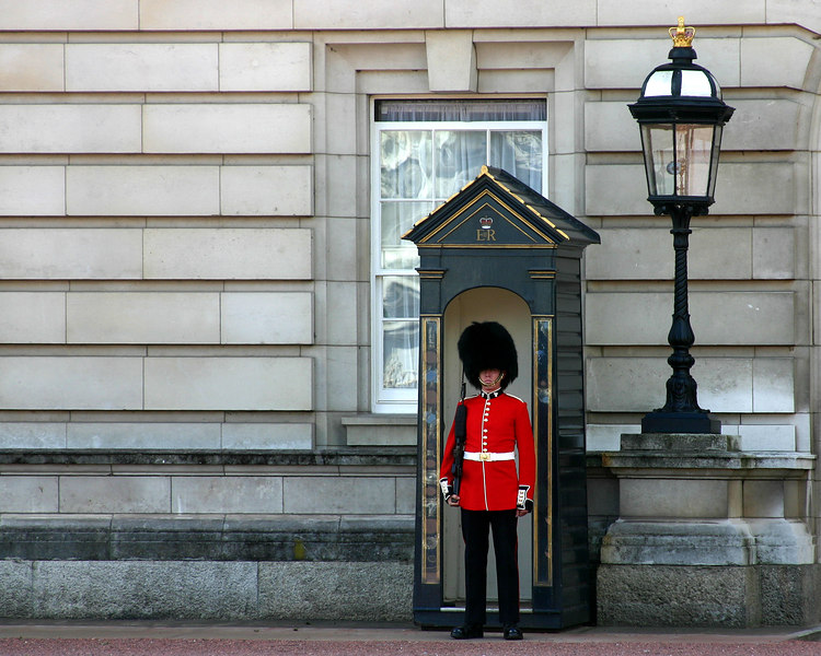 OK, I didn't actually meet this guy, but I did visit him.  Queen's guard in London.