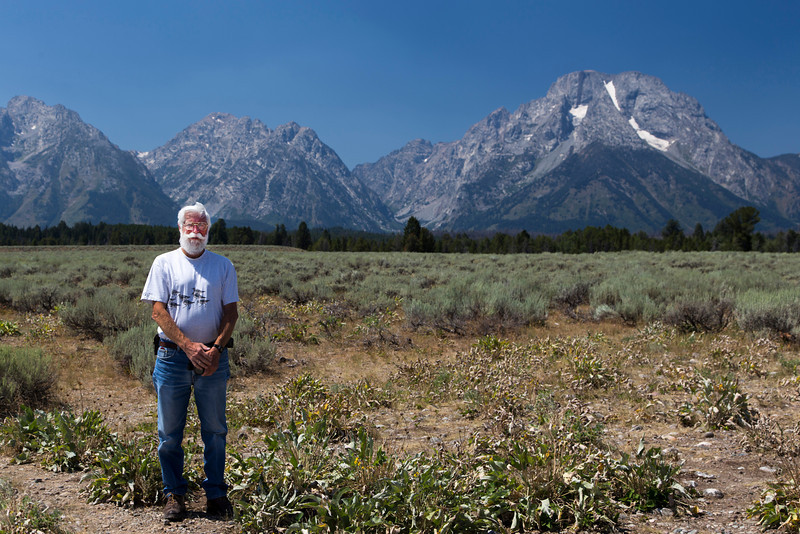 "Robert ""Bob"" Young Jr. Mt. Moran in Grand Tetons National Park. August 7, 2013"