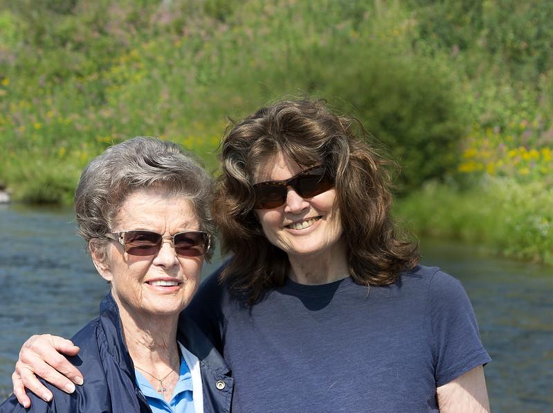 Donna D Perdue and Namoi Farley at Warm River, Idaho