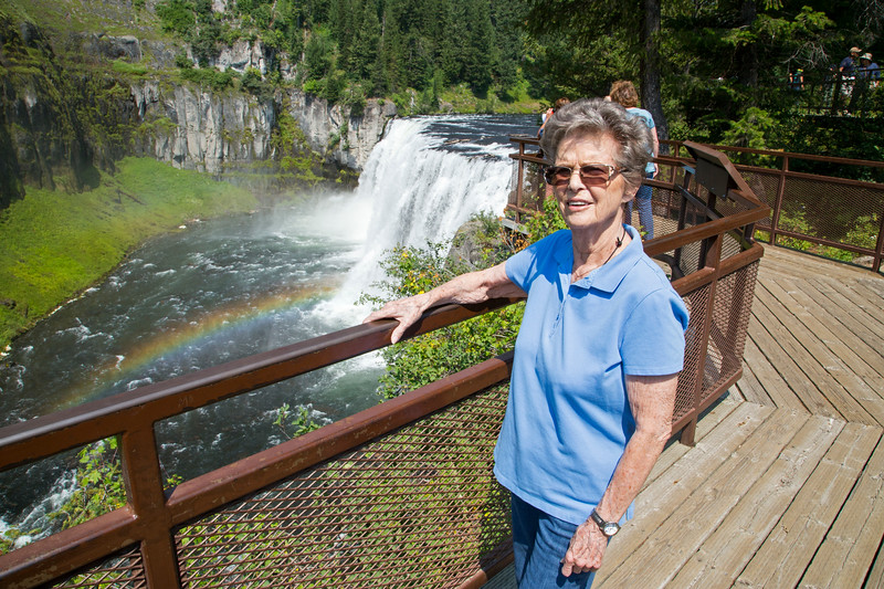 Naomi Farley at Upper Mesa Falls, Island Park, Idaho