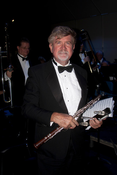 Michael Kibbe, principal oboist of the Los Angeles Pierce Symphonic Winds after Sunday afternoon concert in Calabassas, California. Oct 2, 2011.