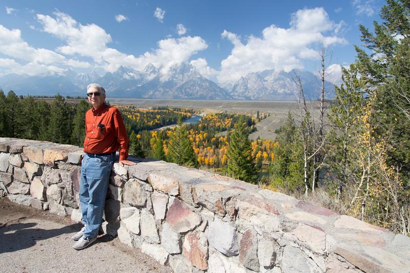 Steve Jay at Snake River Overlook in Tetons