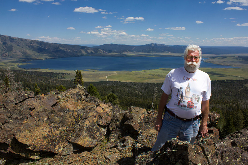 Robert (Bob) Young on the Continental Divide overlook of Henry's Lake Idaho. July 25, 2012