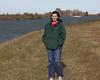 Genevieve Perdue along a Sacramento Delta river canal. Jan 2012, near Isleton, CA.