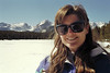Donna Perdue at Bierstadt Lake, in Rocky Mountain National Park, during a winter shoeshoe hike. March 1994.