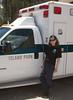 Donna Perdue and Island Park, Idaho ambulance on Open House. Summer 2010