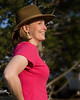 Karen at RedRock RV Park, Island Park, Idaho. July 27, 2008