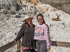 Lida and Ceclia Grossman in Mammoth Hot Springs with Elk