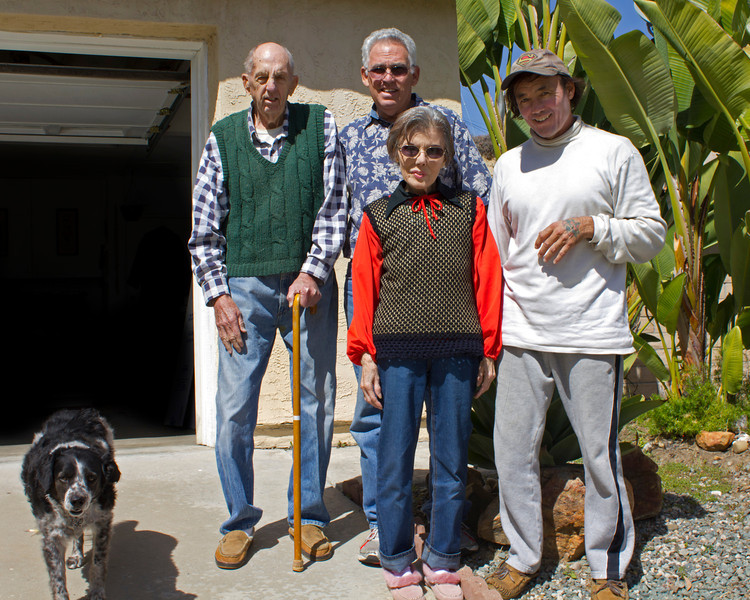 My Uncle Cotton, Aunt Kitty, Cousin Dallas, and brother John. National City, CA. March 7, 2012.
