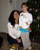 Genny and Chloe are modeling their sweatshirts that Grandma Donna embroidered for Christmas... Dear Santa, Define Good.  Christmas 2011, Santa Rosa, California.