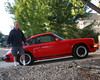 "My friend, Burke Taft, standing next to his 1984  Porche,  the first of the ""Carrera"" series,  in Lafayette, Colorado.Sep 2011."