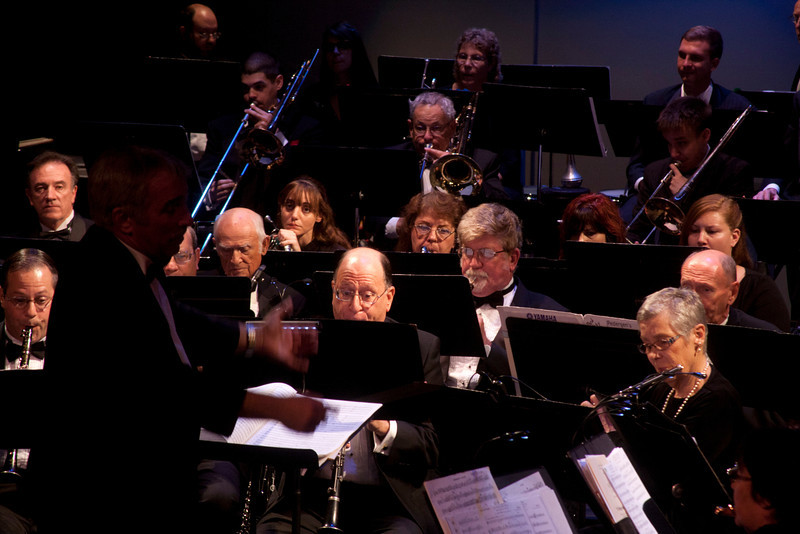 My friend, Michael Kibbe (right of center) playing oboe in Los Angeles Pierce Symphonic Winds concert, Oct 2, 2011.