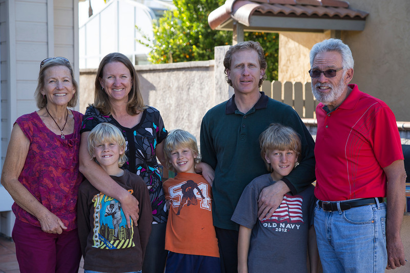 My brother John Perdue's family, from left, Linda, their daughter, Cherie, and her husband Jim, John and the twins (Mitch and Vinnie) and Diego. March 12, 2013