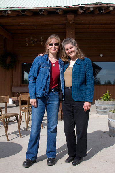 Karen Rector and Donna Perdue at Pond's Lodge in Island Park, Idaho. Sep 6, 2009