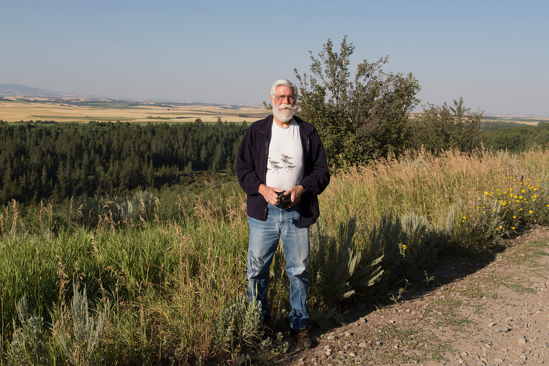 "Robert ""Bob"" Young, Jr. on Ashton-Flagg Ranch Road in Idaho. August 7, 2013"