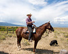 Bill West heading out to rustle up some escaped cattle at Red Rock Lakes Nat'l Wildlife Refuge. Aug 21, 2011