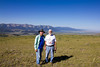 Newt Perdue and Bob Young on Deer Mtn overlooking the Centennial Mountains and Red Rock Lakes National Wildlife Refuge (8400 feet) in Montana. July 25, 2012
