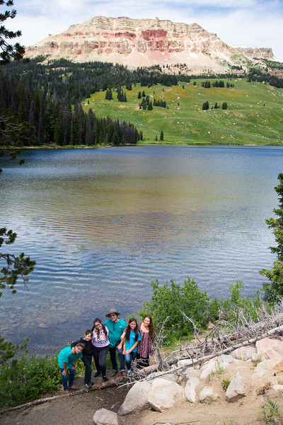 Grossman Family and Beartooth Lake and Butte