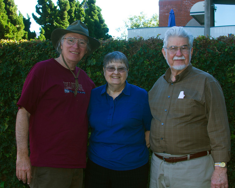 Newt Perdue, Janice McElroy and James D. McElroy in La Jolla, CA  Jan 23, 2011. Jim was my UCSD college roommate, many years ago.