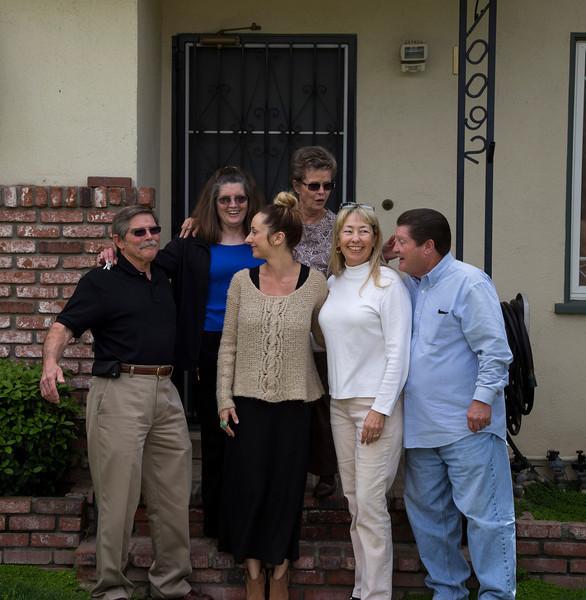 Bobby, Donna, Samm, Rae-ann, Namoi and Jim celebrating Naomi's house selling. Feb 2013