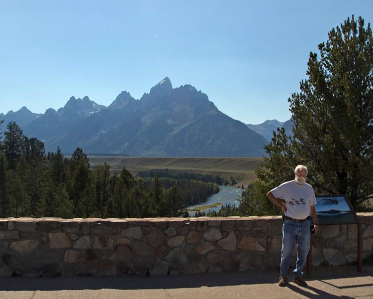 "Robert ""Bob"" Young at Teton Snake River Overlook. August 7, 2013"