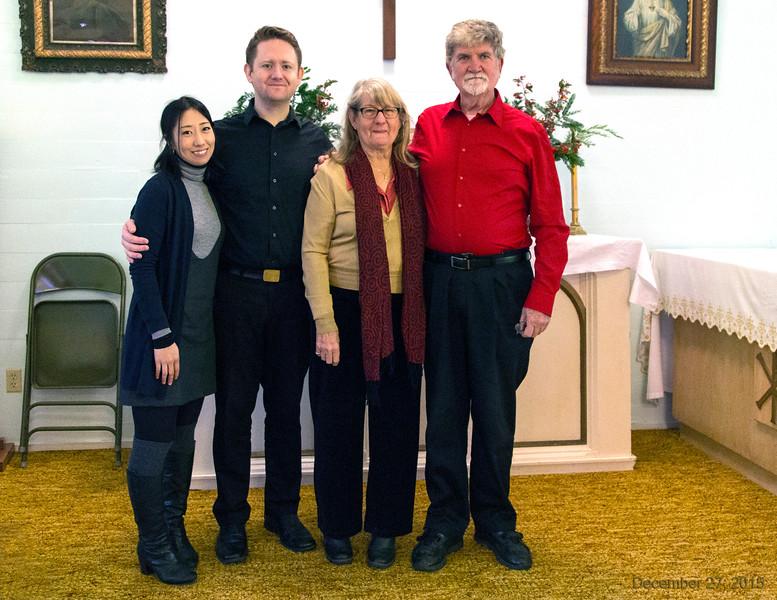 Nonoka, Peter Kibbe, Vanessa and Michael Kibbe
