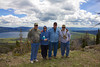 Brian, Karen, Gordon and Larry from Redrock RV Park on Continental Divide with Henrys Lake and Redrock RV Park in the background. June 3, 2012.